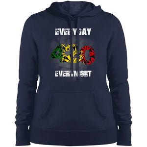 420 Everyday - Everynight Ladies Pullover Hooded Sweatshirt - Yours fruitfully
