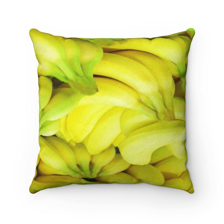 Banana Design Faux Suede Square Pillow - Yours fruitfully