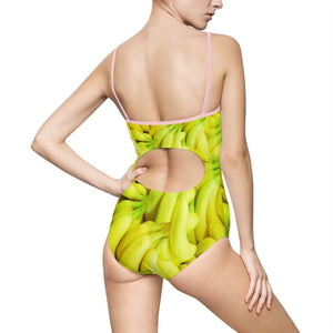 Banana Design Women's One-piece Swimsuit - Yours fruitfully