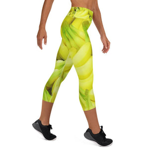 Banana Design Yoga Capri Leggings - Yours fruitfully