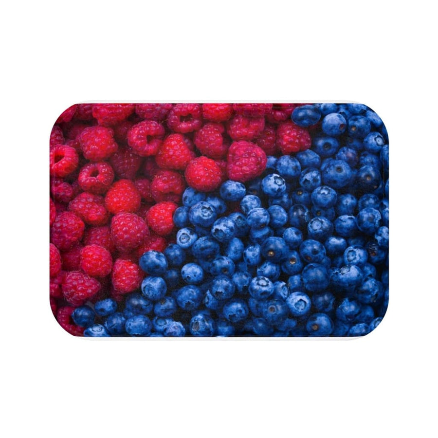 Blueberry Raspberry Bath Mat - Yours fruitfully