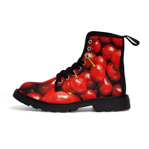 Cherry Design Women's Canvas Boots - Yours fruitfully