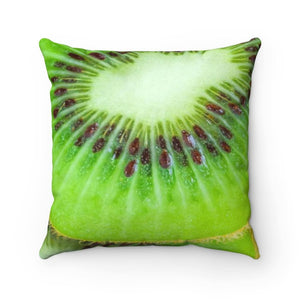 Faux Suede Square Pillow Case Kiwi Design - Yours fruitfully