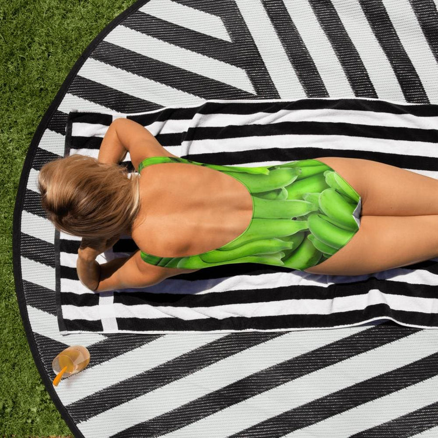 Green Banana Design One-Piece Swimsuit - Yours fruitfully