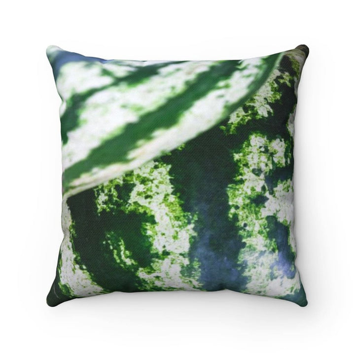 Green Watermelon Design Square Pillow - Yours fruitfully