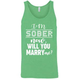 I'm Sober Canvas Unisex Tank - Yours fruitfully