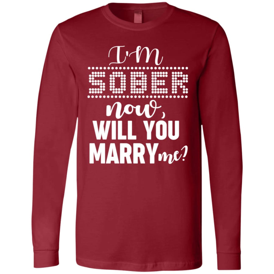 I'm Sober Men's Jersey LS T-Shirt - Yours fruitfully