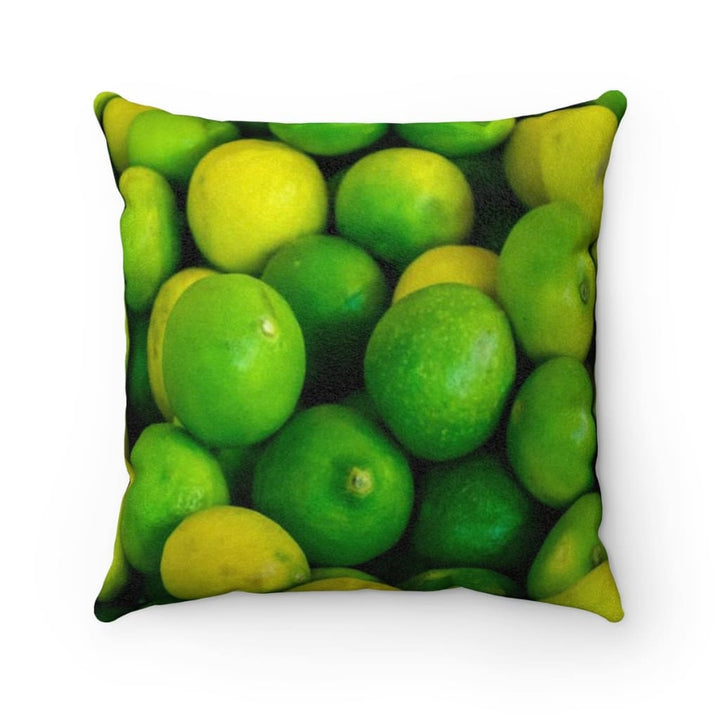 Lime Design Faux Suede Pillow - Yours fruitfully