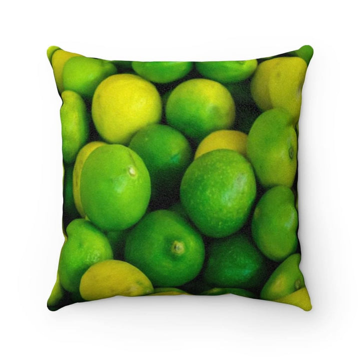 Lime Design Faux Suede Pillow Case - Yours fruitfully