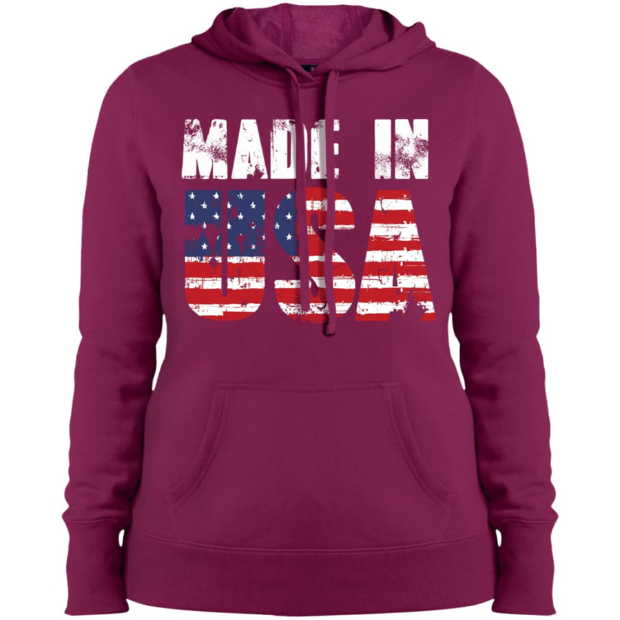 Made In USA Ladies Pullover Hooded Sweatshirt - Yours fruitfully