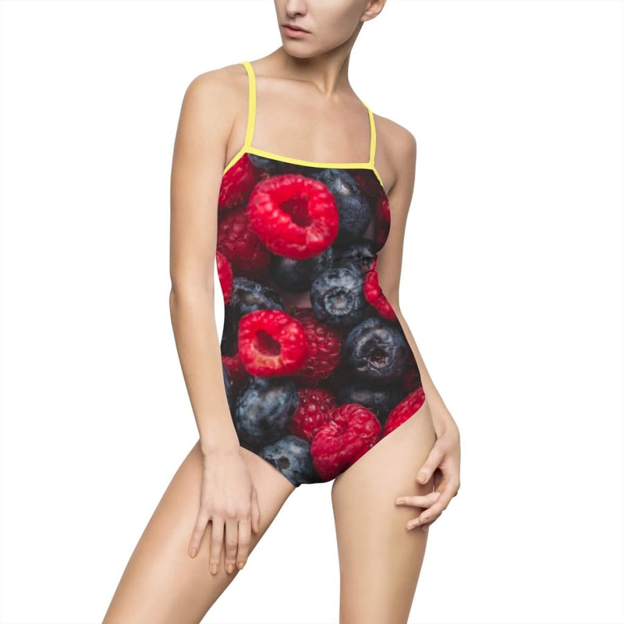 Mixed Berries Design Women's One-piece Swimsuit - Yours fruitfully