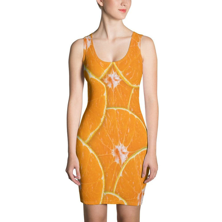 Orange Design Sublimation Cut & Sew Dress - Yours fruitfully