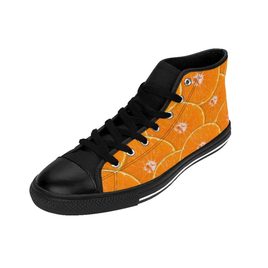 Orange Design Women's High-top Sneakers - Yours fruitfully