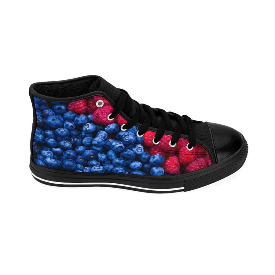 Raspberry & Blueberry Design Women's High-top Sneakers - Yours fruitfully