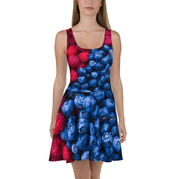 Raspberry Blueberry Skater Dress - Yours fruitfully