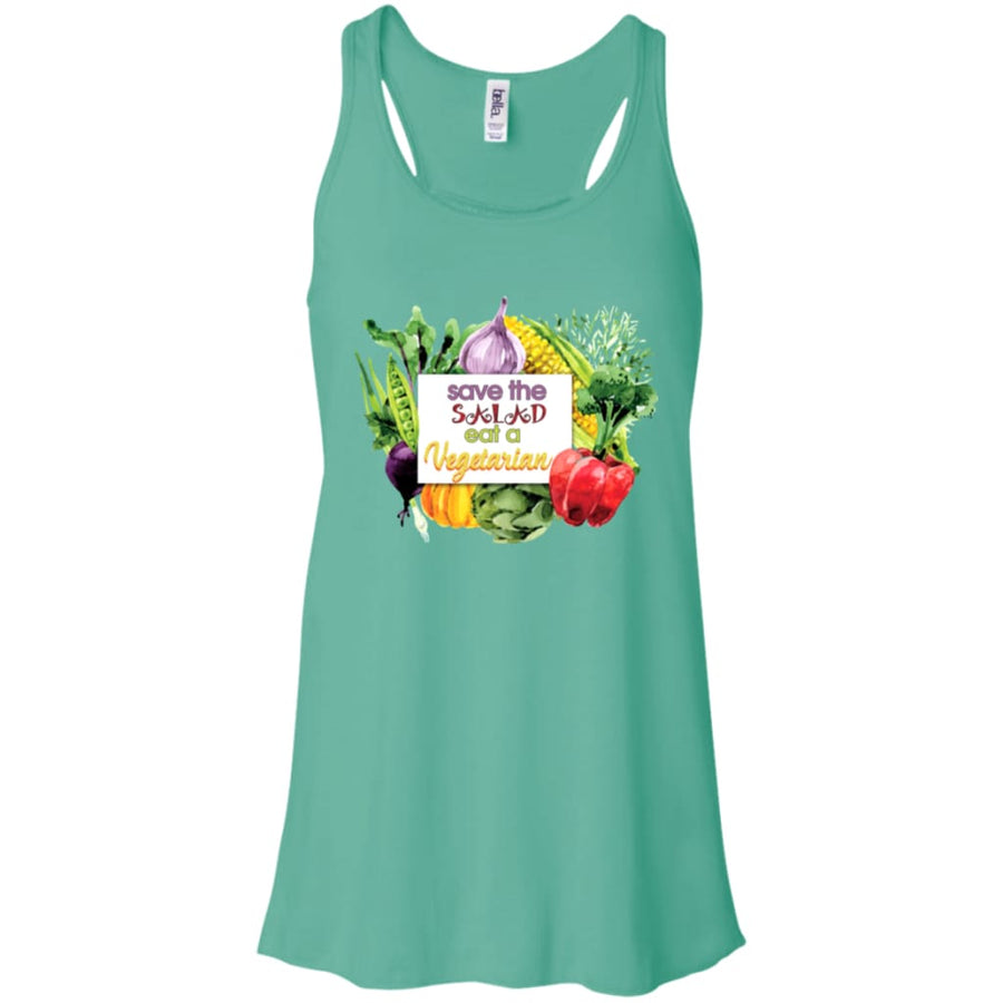 Save The Salad Eat A Vegetarian Flowy Racerback Tank - Yours fruitfully