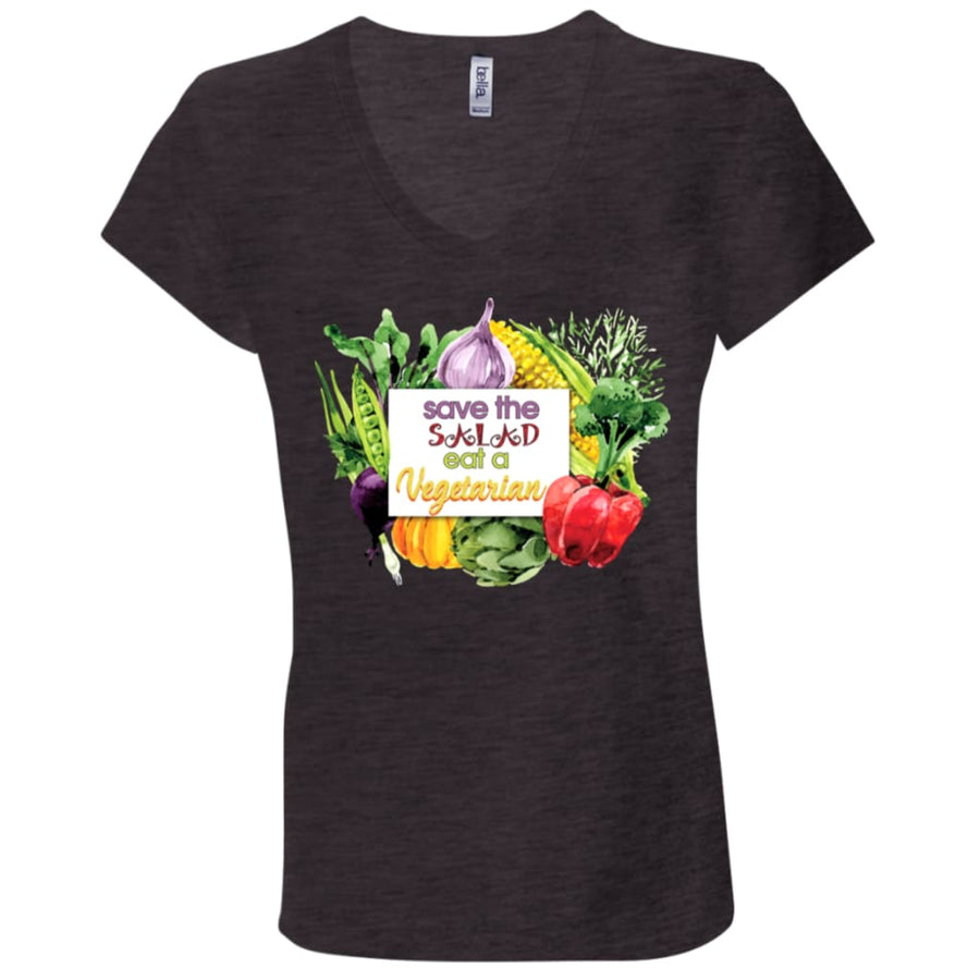 Save The Salad Eat A Vegetarian V-Neck T-Shirt - Yours fruitfully