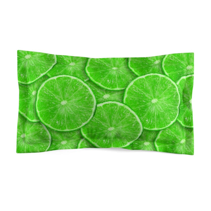 Sliced Lime Design Microfiber Pillow Sham - Yours fruitfully