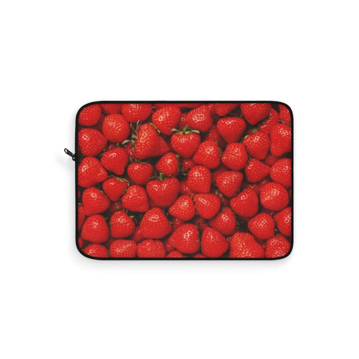 Strawberries Design Laptop Sleeve - Yours fruitfully