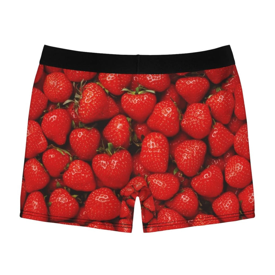 Strawberries Design Men's Boxer Briefs - Yours fruitfully