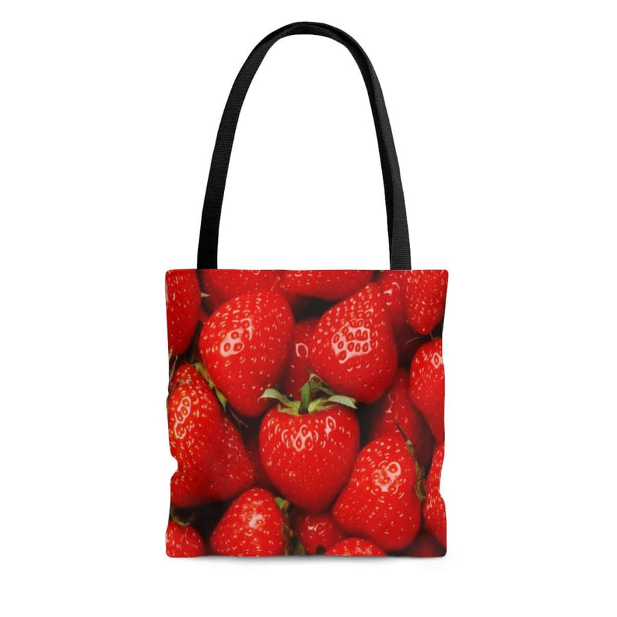 Strawberries Design Tote Bag - Yours fruitfully
