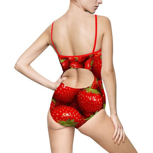 Strawberry Design Women's One-piece Swimsuit - Yours fruitfully