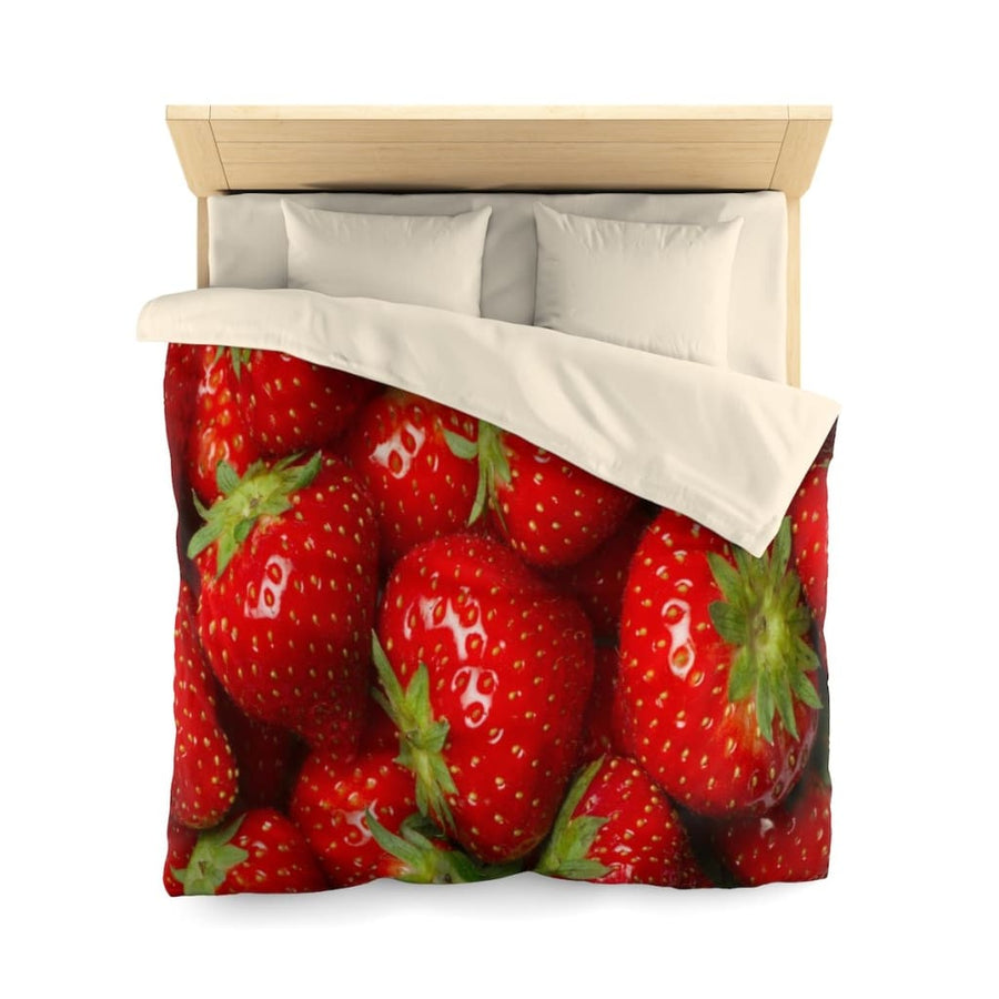 Strawberry Microfiber Duvet Cover - Yours fruitfully