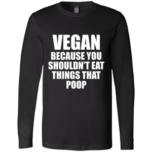 Vegan Because  Men's Jersey LS T-Shirt - Yours fruitfully