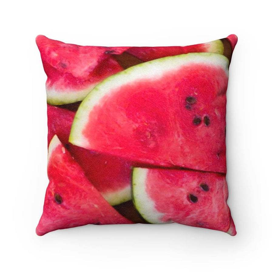 Watermelon Design Faux Suede Square Pillow Case - Yours fruitfully