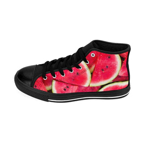 Watermelon Design Women's High-top Sneakers - Yours fruitfully