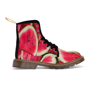 Watermelon Design Women's Martin Boots - Yours fruitfully