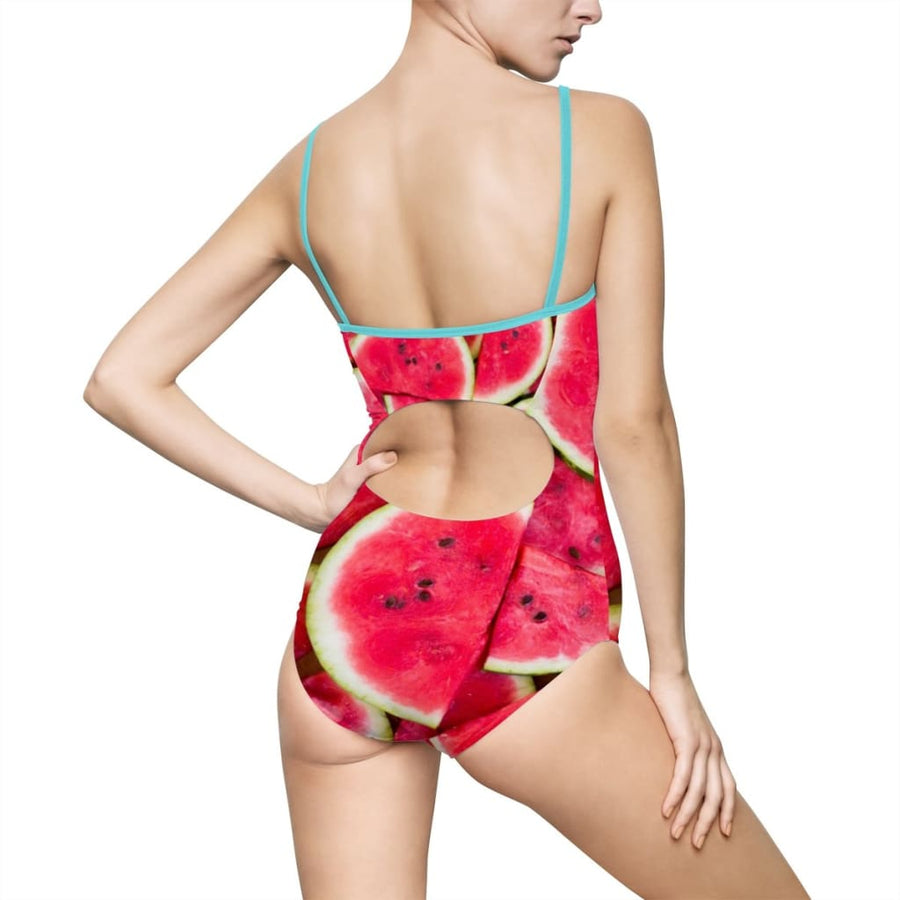 Watermelon Design Women's One-piece Swimsuit - Yours fruitfully