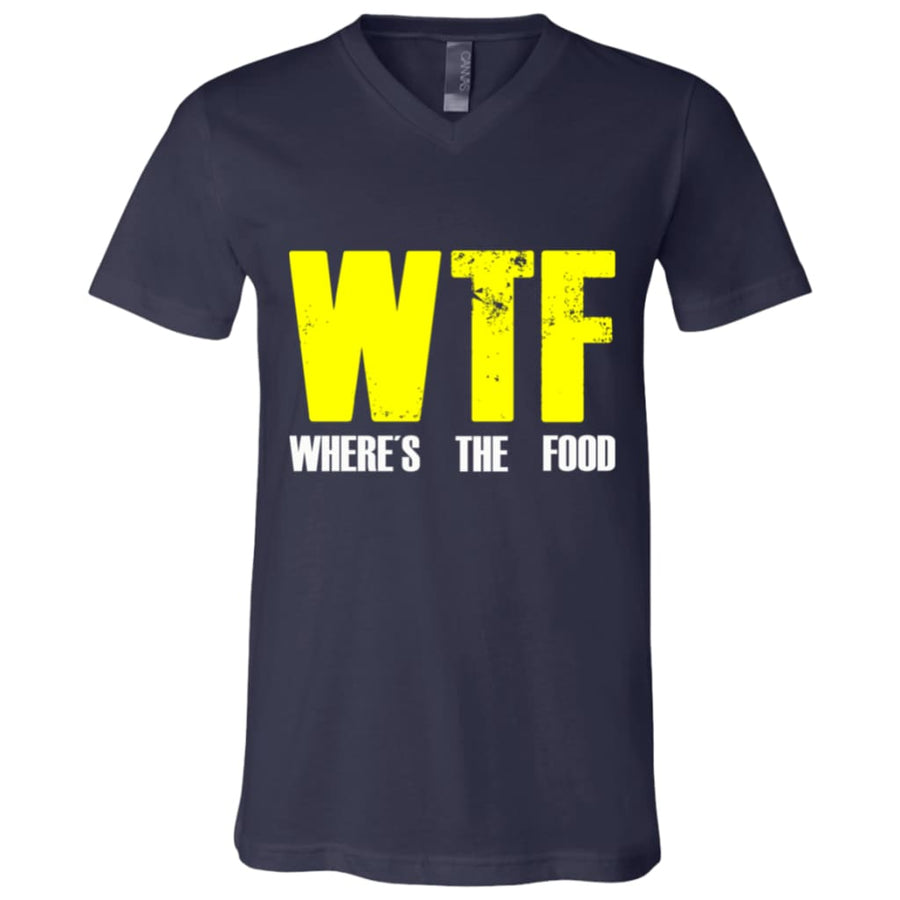Where's The Food Unisex Jersey SS V-Neck T-Shirt - Yours fruitfully