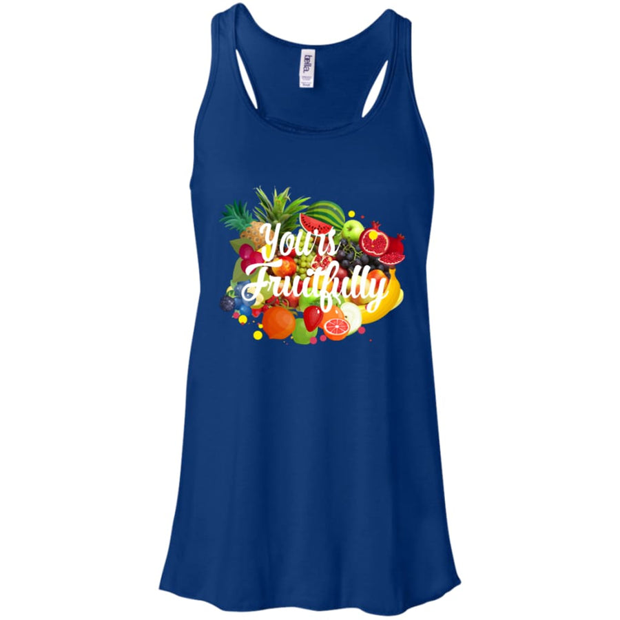 Yours Fruitfully Flowy Racerback Tank - Yours fruitfully