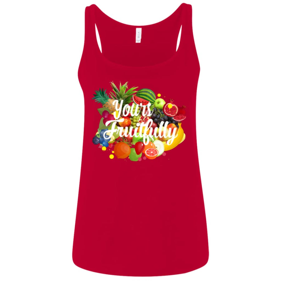 Yours Fruitfully Ladies Relaxed Jersey Tank - Yours fruitfully