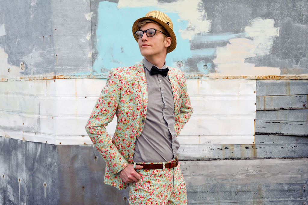 JP King in Floral Suit and Bowtie by Mike Kuby