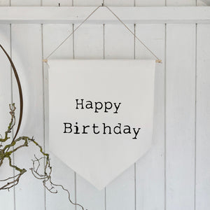 Wall banner - Happy Birthday - Handmade Goose