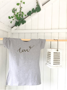 Ladies' organic T-shirt - love - Handmade Goose