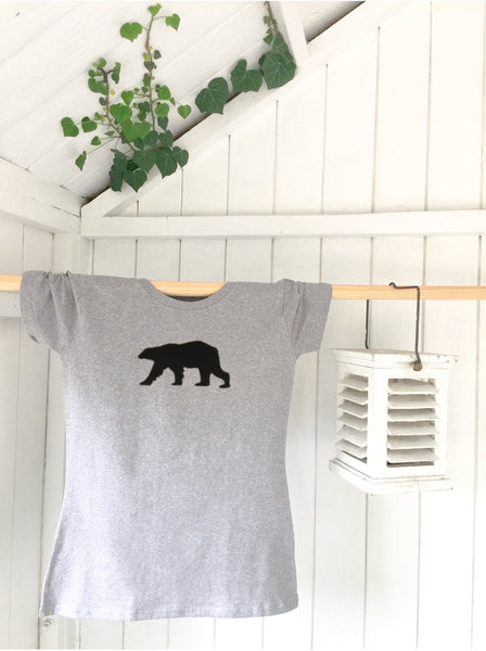 Ladies' organic T-shirt - Bear - Handmade Goose