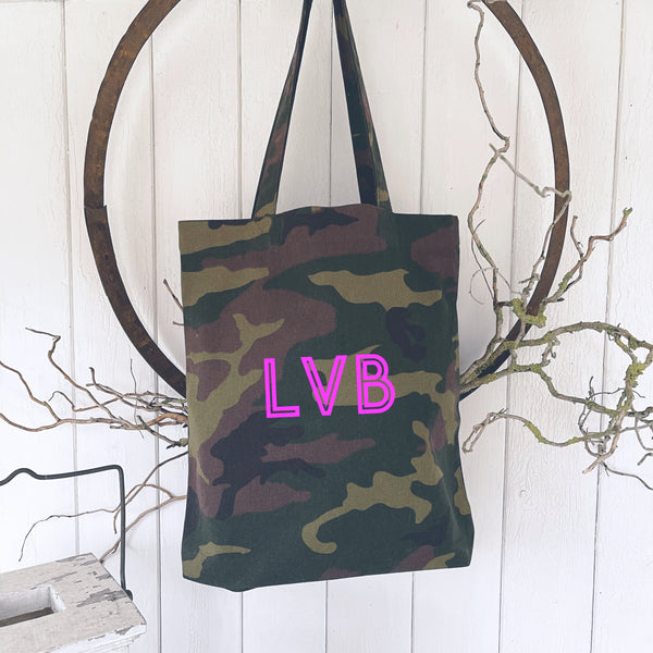 Camouflage Tote / Shopping Bags - Handmade Goose