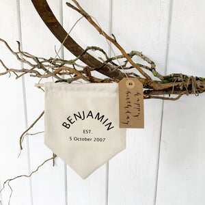 Name & Established Banner - Handmade Goose