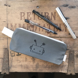 Stationery - Grey pencil case - Handmade Goose