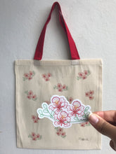 Load image into Gallery viewer, Totebag Flamboyán + Sticker