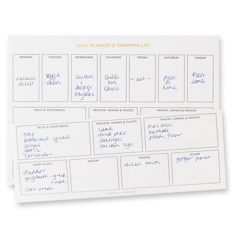 Meal Planner & Shopping List Pad