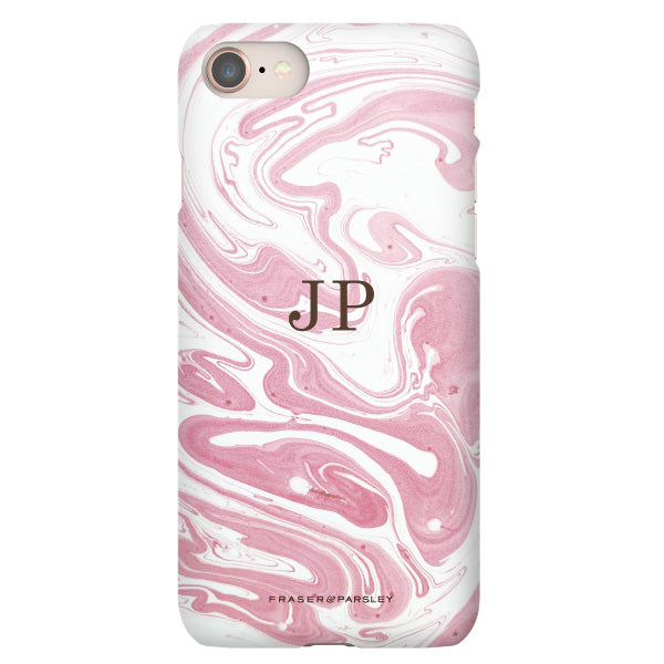 Pink Marbled Paper Phone Case