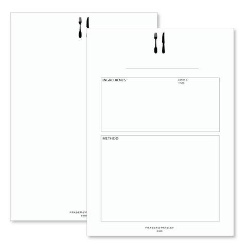 Recipe Pages for Binder