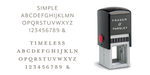 Typographic Address Stamp