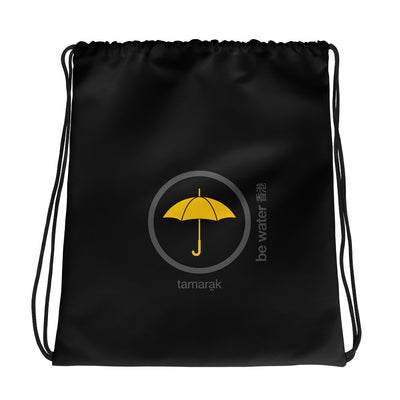 be water | black edition | drawstring bag