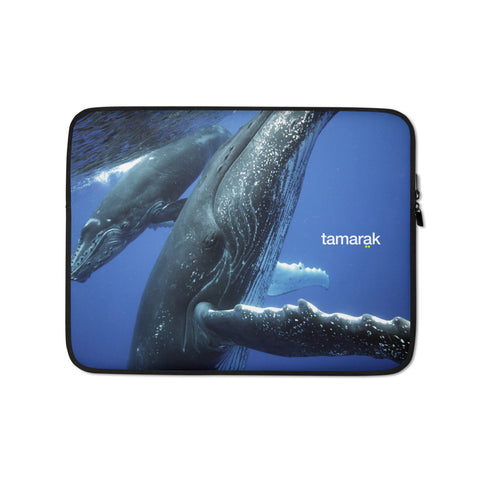 humpback whales | laptop sleeve