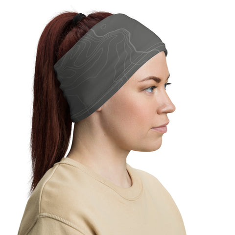 tamaräk topographic gray | hope edition | neck gaiter